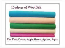 ECO Friendly Wool Felt Fabric Squares. 5 colours 30cm x 25cm. Azo free