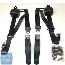 1967-69 GM F Body 3 Point Retractable Style Front Bucket Seat Belts W/ Starburst