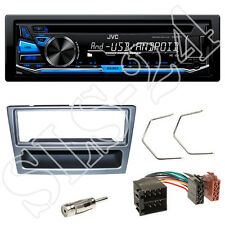 JVC KD-R472 CD USB Radio blau Opel Astra G Meriva Blende anthrazit + ISO Adapter