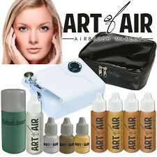Art of Air Professional Airbrush Cosmetic Makeup System - Medium Foundation Set