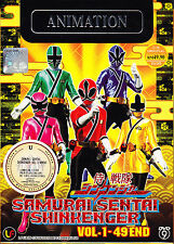 Samurai Sentai Shinkenger DVD (Eps : 1 to 49 end) with English Subtitle