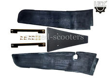 Vespa PX125 PX150 LML Rubber Floor Mat RH LH Strips Center Mat Screw New P6022