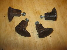4 Railroad Spike Knobs - Rustic Coat Rack Hooks or  Cabinet / Drawer Pulls