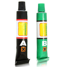 A+B Epoxy Clear Glue Adhesive + Spatula Strong Ceramic Glass Rubber Metal CF