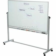 "Luxor 72""W X 40""H Mobile Reversible Magnetic Whiteboard"