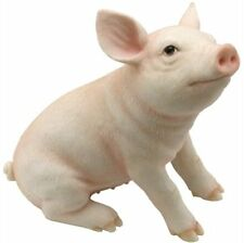 "5"" Baby Pig Farm Animal Statue Collectible Countryside Figure Figurine"
