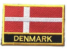 Denmark Embroidered Sew or Iron on Patch Badge