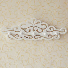 5 Hook Carved White Coat Hooks Towel Rail Organiser Wall Hanging Clothes Rack