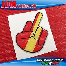 Adesivo 3D resinato STICKER Shocker handFUCK OFF auto moto ROMA giallo rosso