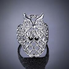 New Fashion Creative Women's Elegant Silver Plated Owl Ring Jewelry Size 8 Gift