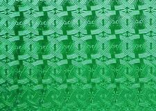 EMERALD GREEN CELTIC KNOT KOKOMO Stained Glass SHEET or Mosaic Tiles STUNNING!
