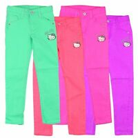 Hello Kitty @ Jeans Hose 110 116 122 128 134 140 Twill Mädchen Kinder Peppa Wutz