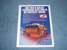 """1993 Mopar Performance Parts Vintage Crate Engines Ad """"...One Convenient Package"""