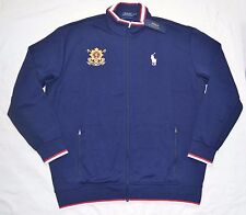 New 2XLT 2XL TALL POLO RALPH LAUREN Men Black Watch track Jacket navy blue 2XT