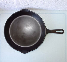 Griswold (small logo) #8 Cast Iron 704A Fry Pan Skillet Erie, PA - SITS FLAT