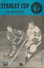 1963-64 Chicago Black Hawks-Red Wings Playoff Program Hawks Win Controversy!!