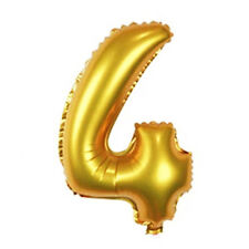 16 inch Gold Arabic Number Foil Balloons Birthday Wedding Party Number 4