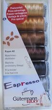 GUTERMANN MACHINE EMBROIDERY RAYON 40 THREAD SET/PACK   'COFFEE'