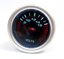 52mm Smoked Face Volt Meter / Voltage gauge Fiat Uno Punto Brava Bravo 500 Coupe