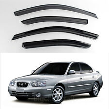 New Smoke Window Vent Visors Rain Guards for Hyundai Elantra 2000 - 2005