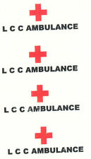 DECAL WATERSLIDE TRANSFER MATCHBOX 14c LOMAS AMBULANCE also code s models
