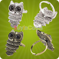Fashion Lady  Ancient Adjustable Metal Owl Retro Exquisite Style Ring Gift SAUS