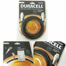 DURACELL 2m 4K High Speed PS4 PS3 DVD BLUE RAY Xbox 360 3D TV HDMI Cable