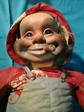 "Large 30"" Rushton Hobo Rubber Face Doll w/ Cigar Red Skeleton Tramp Character"