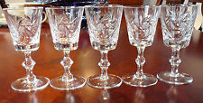5 PINWHEEL  CRYSTAL GLASSES 4-5 oz sherry wine glass