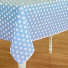 Mickey Mouse Blue Polka Dot Plastic Table Cover Birthday Decoration Party Supply