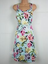 BNWT Definitions 50s Retro Bold Floral Print Party Dress Size 18 RRP £82