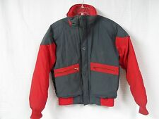 "Vintage Men's OBERMEYER Red and Gray DOWN Coat Size SMALL Style ""Michael"" Ski"