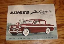 Original 1959 Singer Gazelle Foldout Sales Brochure 59