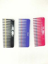 "(3pcs) ANNIE VOLUME COMB #206 6"" LONG 2.5"" WIDE  TOOTH PLASTIC COMB FOR VOLUME"