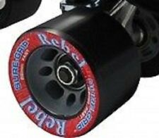 8 SURE-GRIP REBEL SPEED/JAM WHEELS 59 MM BLACK NO BEARINGS