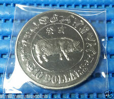 1983 Singapore Mint's $10 Lunar Year of the Boar Cupro-Nickel Proof-Like Coin