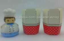 20 pcs Red White Polka Hexagonal Cupcake Liner Baking Paper Cups Candy Holder