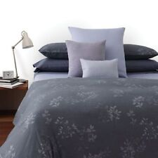 NIP Calvin Klein Kent Uniform Gray/Blue Twin Duvet Cover Set 3pc