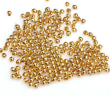 2.5mm New Gold Nickel Metal Ball Spacer Beads Finding For Carft