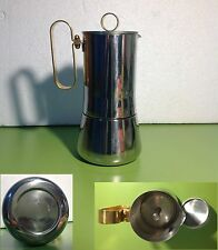 Caffettiera MOMA Bialetti Acciaio ORO Old Coffee maker Crusinallo Made in Italy