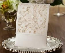 LASER CUT INVITATIONS WEDDING WALLET CHLOE +ENV & BLANK INSERT