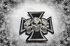 Croce di Ferro, Iron Cross, patch, ricamate, aufbügler, Chopper, Iron on, badge, Skulls,