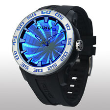 PIXO Time Tunnel Watch: 3D LED Infinity Light show illusion magic backlight PX-8