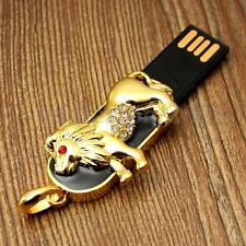 64GB USB 2.0 Flash Drive Memory Stick golden Crystal Leo constellation Bday gift