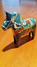 SWEDEN DALAHEMSLOJD & SNICKERIER HAND CARVED /PAINTED WOODEN HORSE COLLECTOR