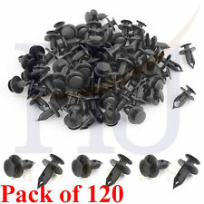 120Pcs 8mm Hole Plastic Rivets Fastener Push Clips Clip for Car Auto Fender
