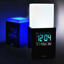 Yubz Mood-light Elevator negro m. touch light pantalla LCD reloj LED de luz despertador