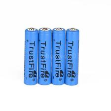 4PCS 600mAh 10440 Rechargeable Lithium Battery For Flashlight AAA 3.7V Blue F7S5
