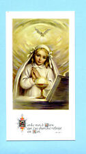 SANTINO RICORDO DELLA PRIMA COMUNIONE  IMAGE PIEUSE - HOLY CARD SANTINI