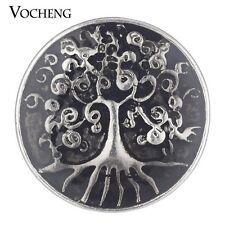 Vocheng Snap Charms Family Tree Button Jewelry Painted 4 Colors 18mm Vn-1773